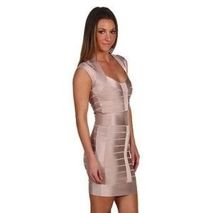 French Connection Pink Bandage Dress Spotlight